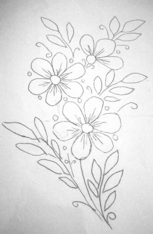 刺绣图案大全:推荐几张简单的花卉刺绣图案