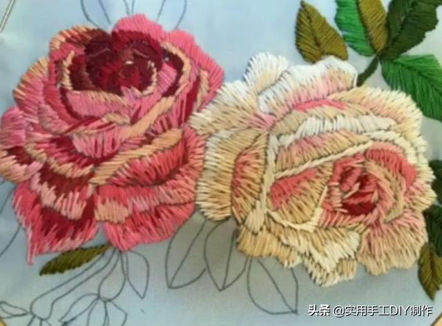 「刺绣作品」40款绚烂多姿的刺绣花朵图,太惊艳了