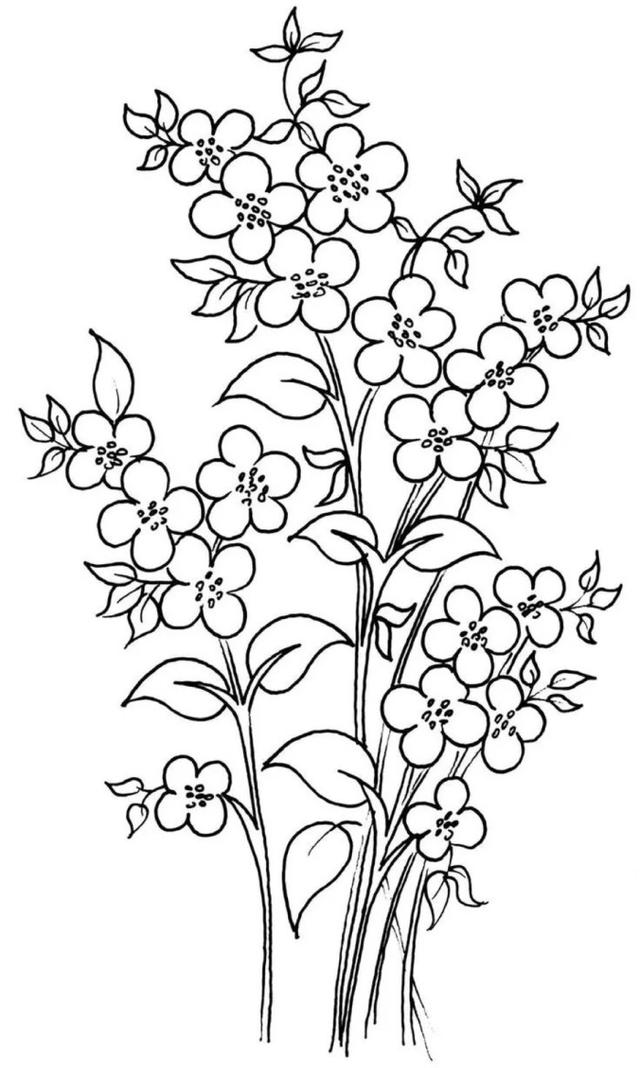 手工DIY:再分享100多款刺绣图,含部分彩图,不要光收藏不练习哦