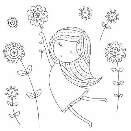27个人物刺绣图案 ,从少女到成年图样,附15款针法大全!
